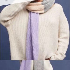 Anthropologie Sleeping on Snow color block scarf